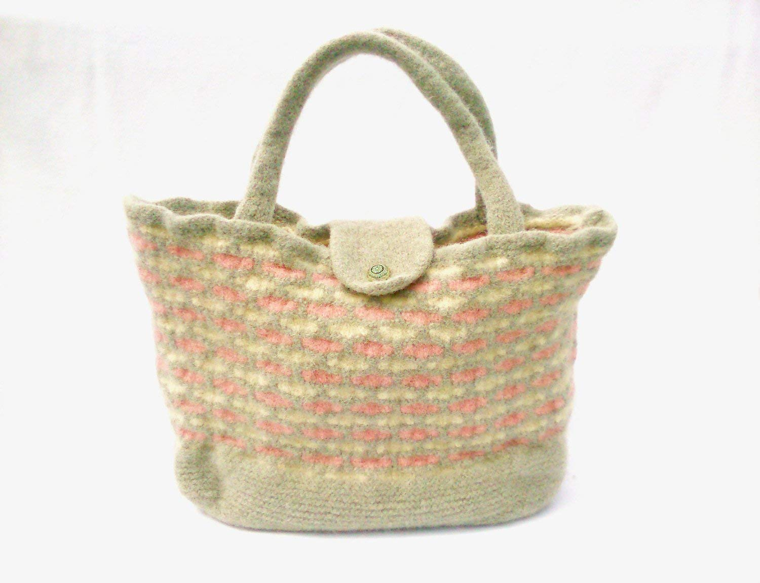 Felt bag, felted handbag, handmade bag, large tote bag, shoulder bag, work bag, overnight bag, folk accessories, hippie bag, boho bag, folk.