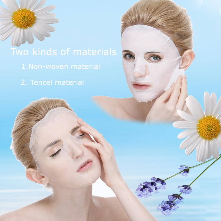 Private label beauty disposable moisturizing whitening mascarillas face facial mask sheet