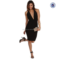 2016 new arrivals women sexy innovative factory direct backless halter dress