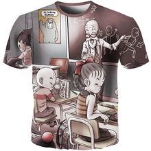 Футболка YOUTHUP для мужчин, футболка с 3D принтом в виде Драконий жемчуг, 3D Гоку, футболка Master Roshi, уличная одежда большого размера, 2020(Китай)