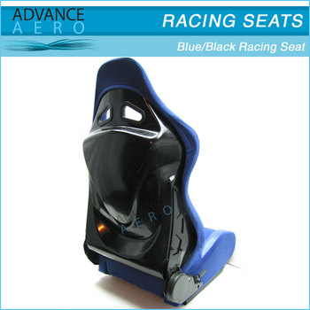 FOR MAZDA ALL MODELS BLUE CLOTH SPORT BUCKET SEATS FIBER GLASS RECLINABLE SLIDER(PAIR)
