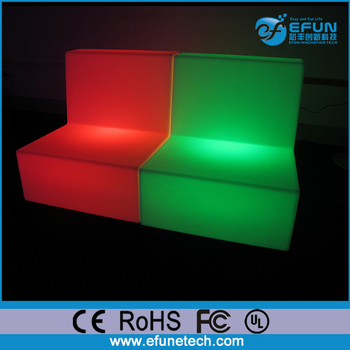 Outdoor Indoor Pe Color Change Led Bar Light Sofa Two Seats Section Illuminated