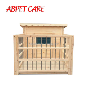 Pet garden products large heated wooden dog kennel