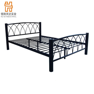 china manufacturer hot sale & high quality modern bedroom furniture double metal bed/ elegant metal bed