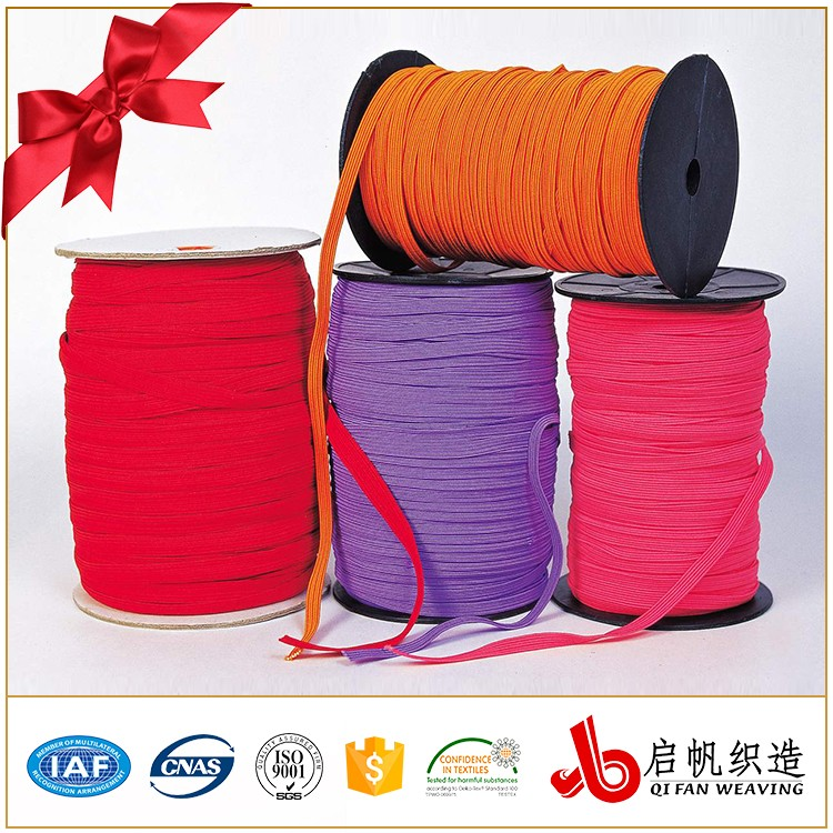 3-50MM Colorful Elastic Fabric Custom Design Rubber Core Braided Elastic Band For Garment