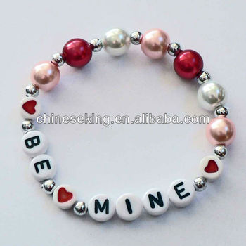Children S Pearl Bead Bracelet Customized Beaded Name Bracelet For