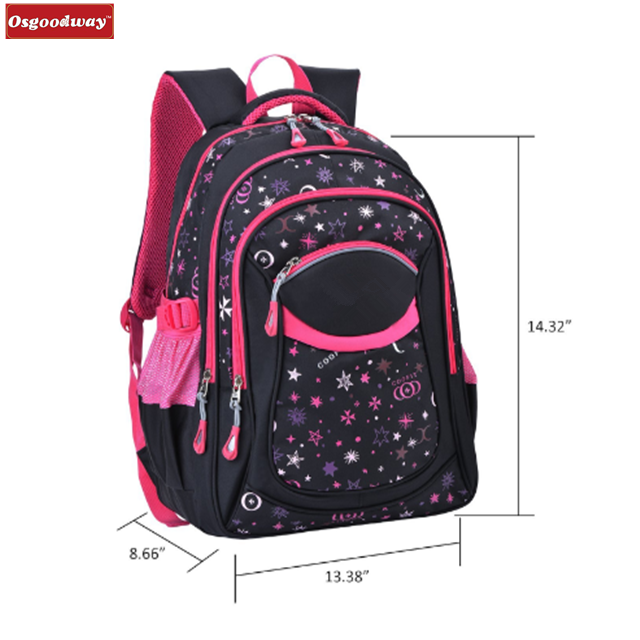 Osgoodway China wholesale fashion desgin beautiful kids school trolley backpack with detachable trolley