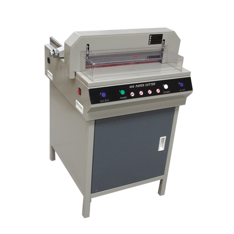 450V+ Electric Paper Cutter Machine With Front Plastic Cover 450*450mm