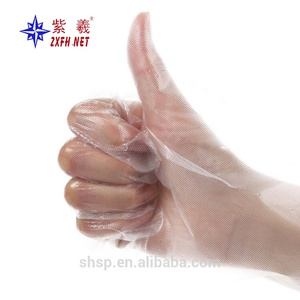 2019 red color Disposable CPE Gloves with good quality and hot sale