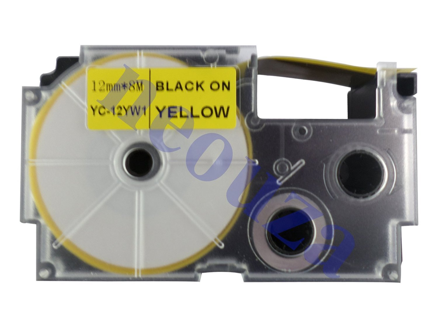 Compatible for Casio EZ-Label Tape 12mm Black on Yellow XR-12YW1 LABEL IT!