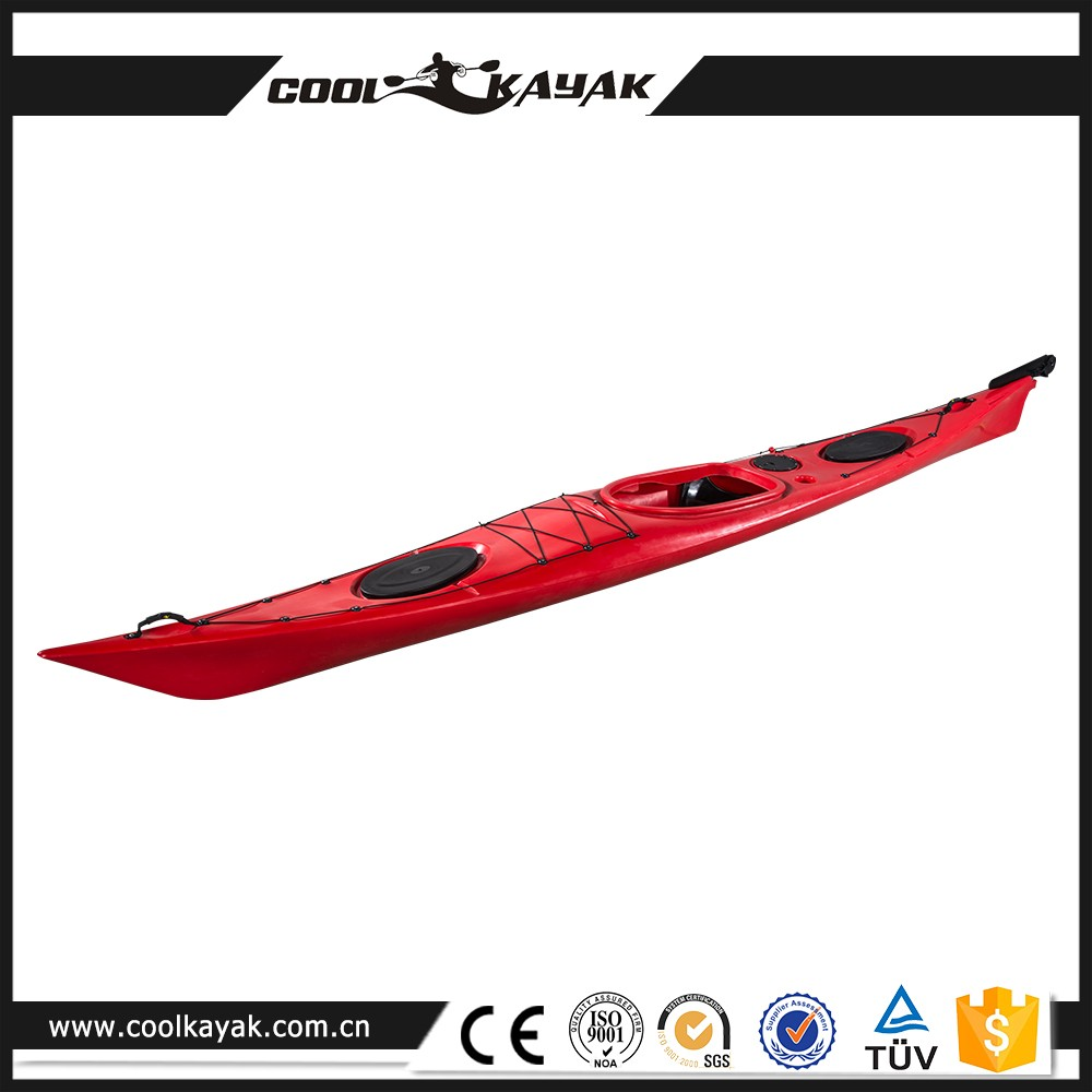 New Style Crusing plastic sit in fishing canoe, sea kayak no inflatable