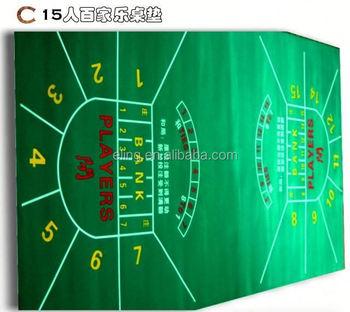 Poker Table Fabric ( Casino Equipment With Flocking Nylon And Rubber  Materia)kevlar Felt Belt