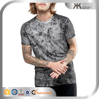 Fit cheap custom all over printing factory jersey t shirt, longline muscle t-shirt with dirty wash