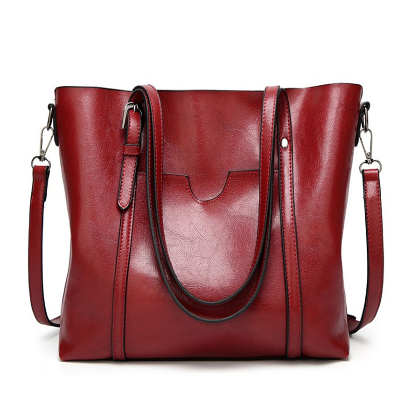 Promo Large Capacity Genuine Leather Shoulder Tote Bag for Women
