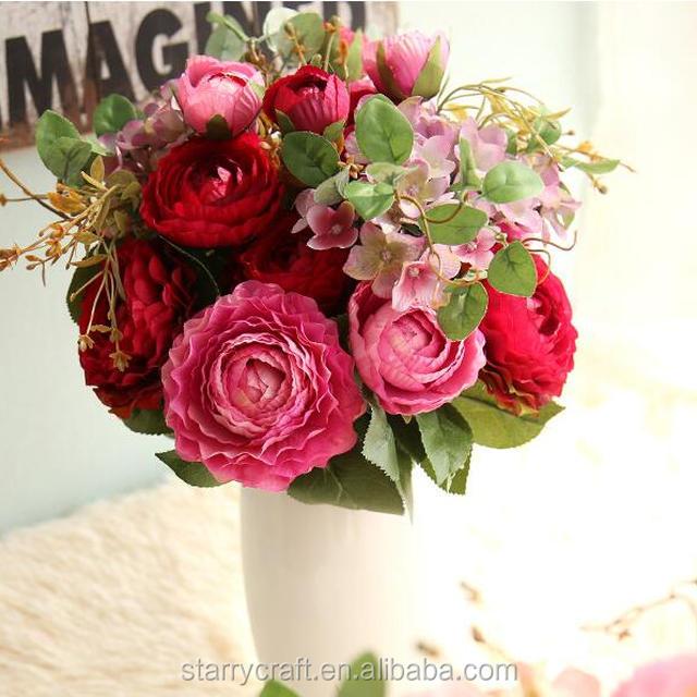Ranunculus Silk Flower Bouquet Wholesale, Bouquet Suppliers - Alibaba