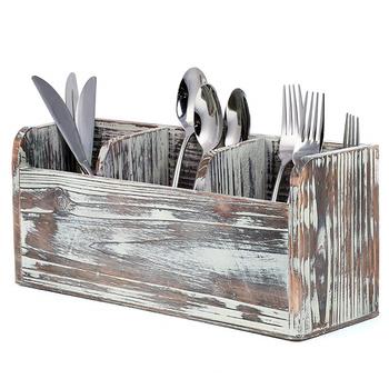 Wholesale Rustic Wood Kitchen Utensil Holder Organizer Flatware Caddy And  Organizer - Buy Utensil Holder,Kitchen Utensil Holder,Utensil Organizer ...