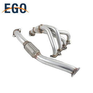 AUTO PERFORMANCE NON TURBO ENGINE EXHAUST POLISHED STAINLESS STEEL HEADER FOR ECLIPSE BASE 95-99 RS/GS NT