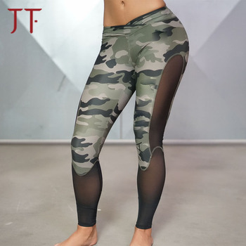 8898669650 Wholesale Camo Print Women Gym Tights Workout Yoga Pants Custom Fitness Sports  Leggings