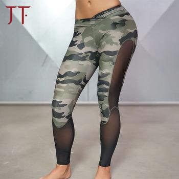 7990d28285605a Wholesale Camo Print Women Gym Tights Workout Yoga Pants Custom Fitness  Sports Leggings