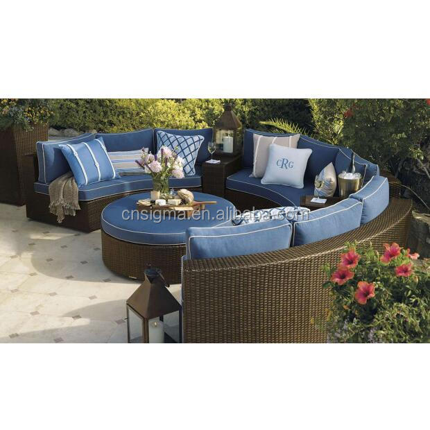 Outdoor Furniture Curved Hot Sale Rattan Sofa - Buy Affordable