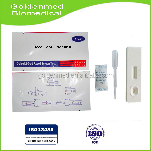 Hepatitis A (HAV) IgM Rapid Test card/strip Made In China (Colloidal Gold)