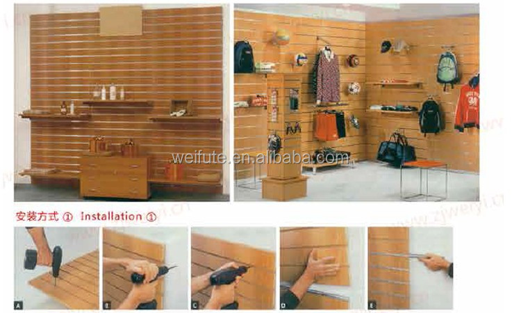 Customized Mdf Slatwall Types Of Wooden Mdf Slatwall Panels - Buy ...