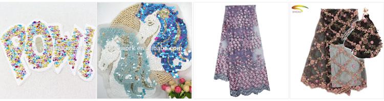Nuevo diseño su propia impresión de seda caliente mano de hierro Pavo Real patrones de bordado parche para ropa
