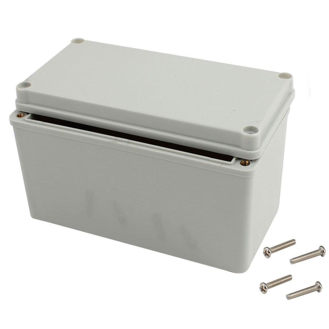 "Awclub 6.4""x3.2""x3.8""(160mmx80mmx95mm) Dustproof IP65 Junction Box DIY Case Enclosure Gray"