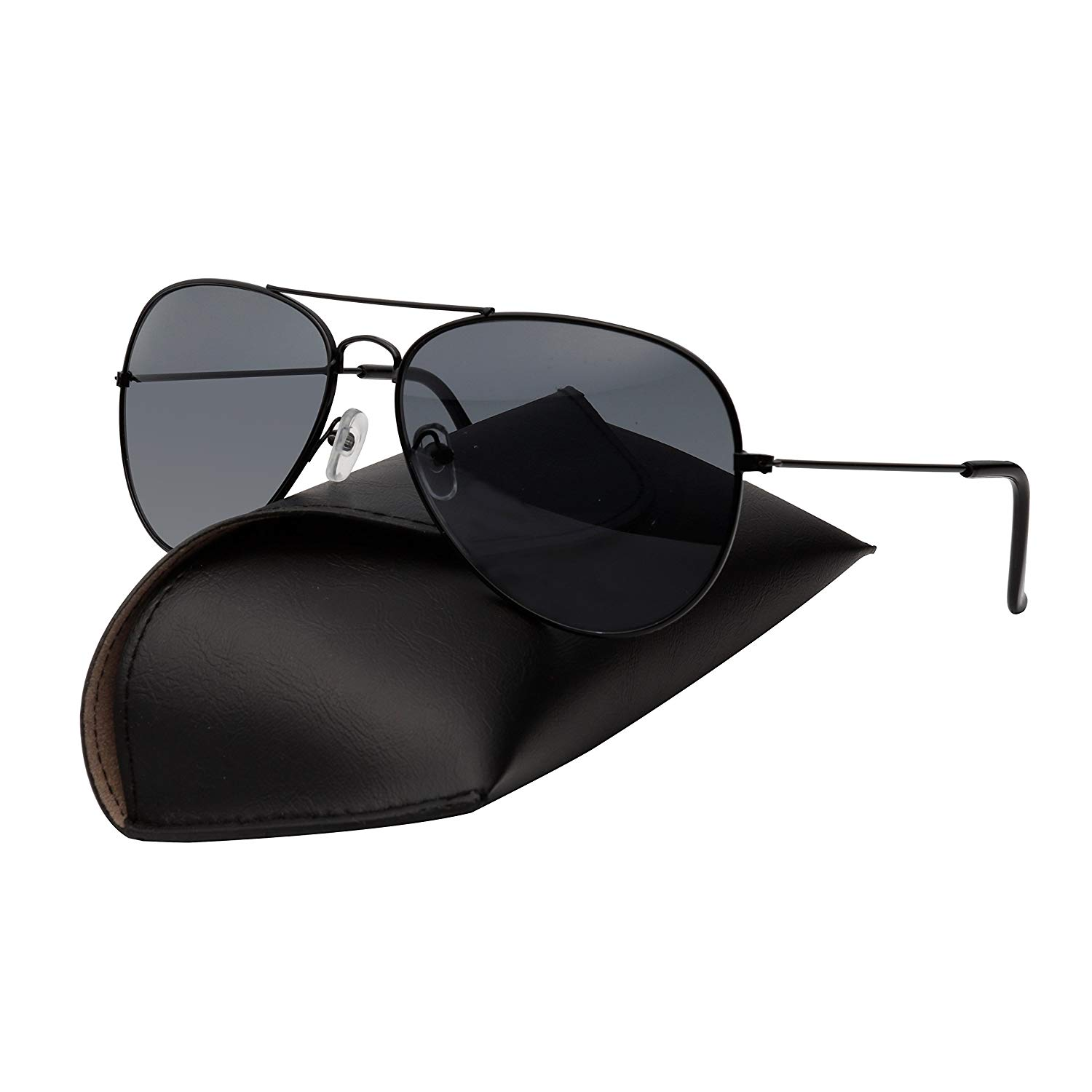 fe470f89e733 Get Quotations · Premium Military Style Classic Aviator Sunglasses,  Polarized, 100% UV protection