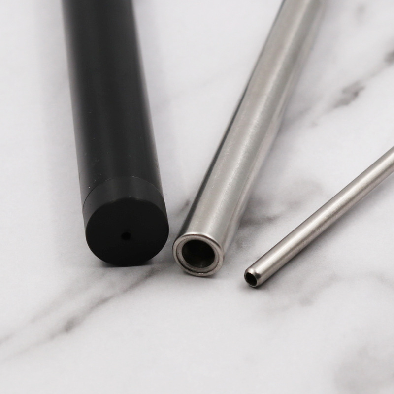 Reusable Adjustable Stainless Steel Foldable Drinking Straw Telescopic Straw