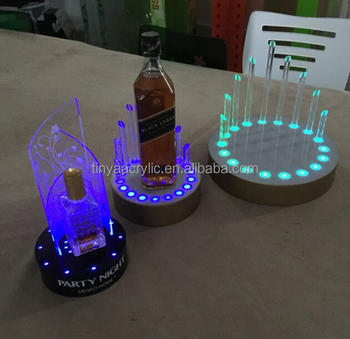 Custom Home Bar 7 Color Change Unique Lighted Liquor Bottle Display