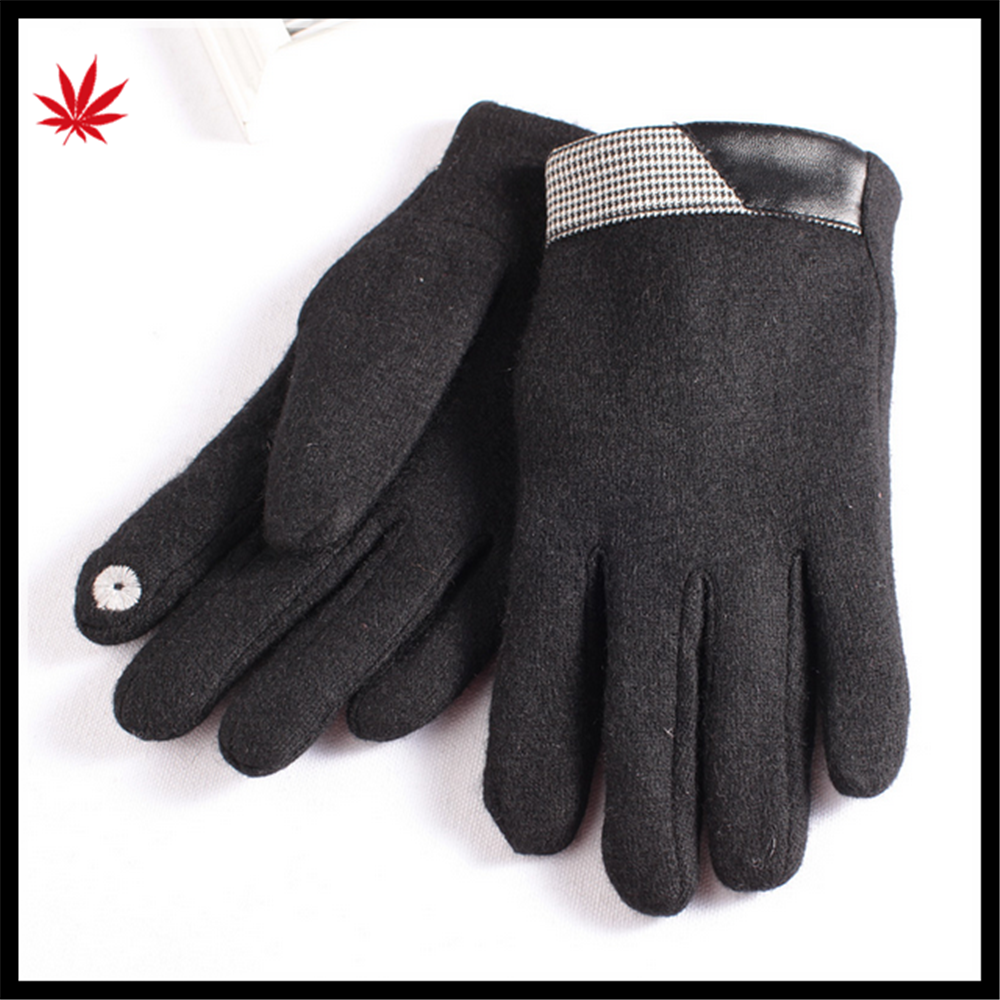 men's affordable touch-screen woolen gloves