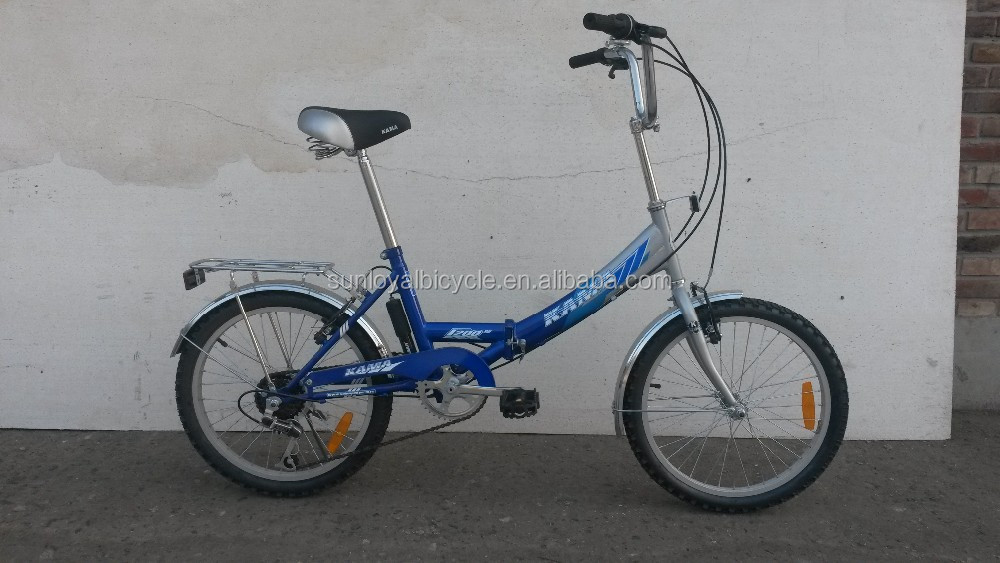 Russia type Chinese Sunrun 6 Speed 20 Inch Lady's Folding Bike