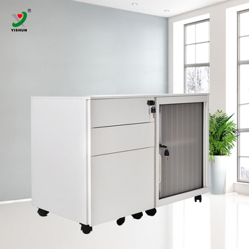 European Style Small Tambour Door Steel Mobile Filing Cabinets