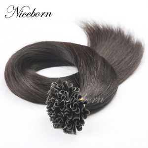 wholesale price peruvian body wave natural color grade 7a virgin flat tip iron hair extension