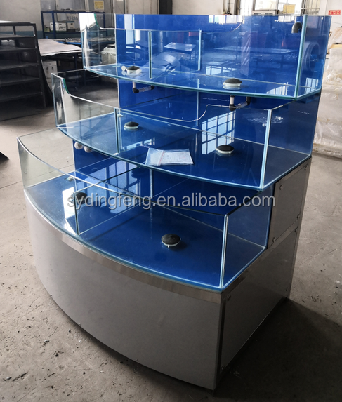 Dingfeng supermarkt restaurant 3 layer temperatuurregeling PVC filter chiller of kachel luxe vis kreeft tank aquarium