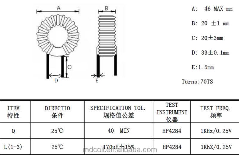 Ferrite Core/toroidal Choke Coil/fixed Inductor/common Mode Choke - Buy  Common Mode Choke,Fixed Inductor,Toroidal Choke Coil Product on Alibaba com