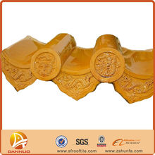 clay glazed color roofing material tiles piece together