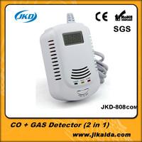 Battery-Operated CO Carbon Monoxide Detector Alarm Sensor Smart Digital Human Voice Warning LCD Display gas Detector Clock