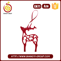 China buy bulk promotional items Christmas elk pattern wall decor