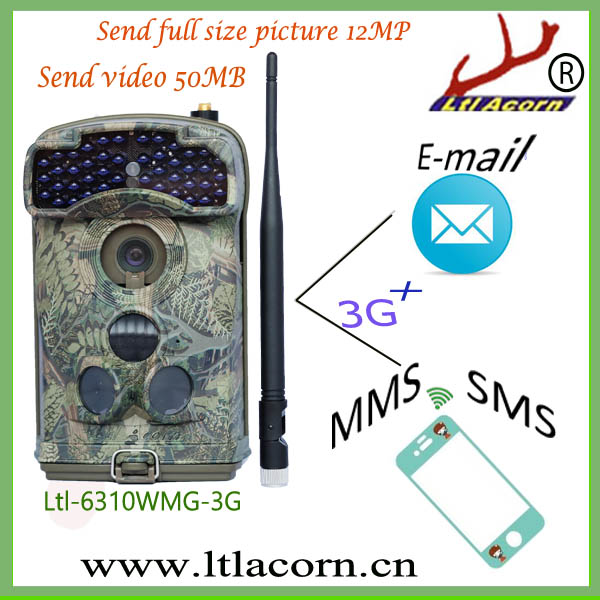 gsm/ mms/ sms hunting trail camera 3G 2016 spy camera