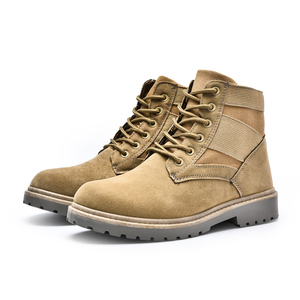 Factory direct sale wholesale outdoors winter high ankle suede military men boots