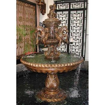 Merveilleux Bronce Grande Interior Caballo Fuente De Agua Venta