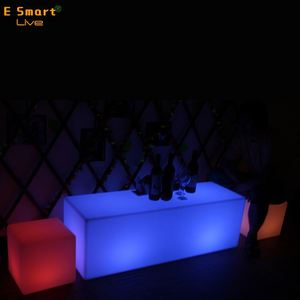 Plastic bar stool / Commercial bar furniture / LED sofa chair
