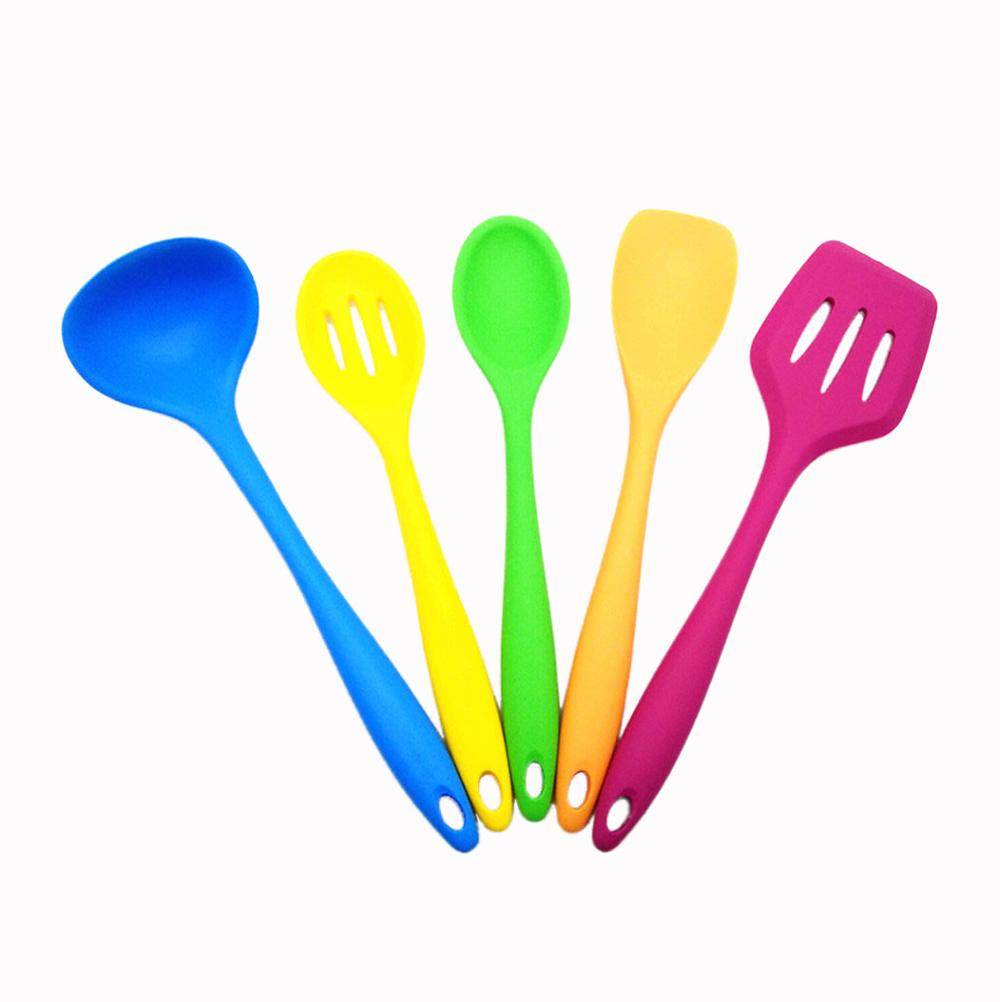 2018 Colorful Kitchen Utensil Set,5 Piece Nonstick Silicone Utensils For  Cooking - Buy Colorful Utensil Set,Nonstick Kitchen Utensils,Silicone ...