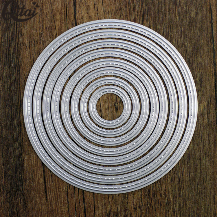 8 pieces circle frame sets metal die cut the best die cutting