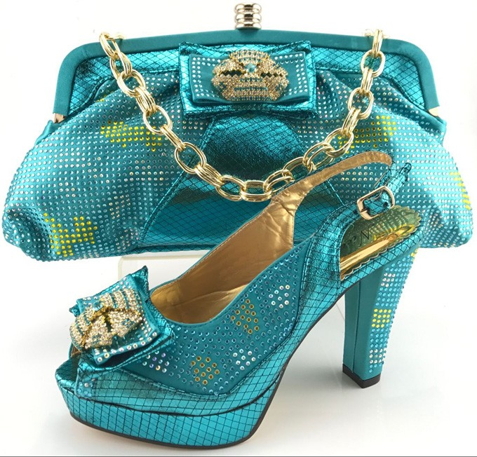 shoes italian and evening TY6609 bag bags women shoes set ladies matching 2017 with shoes AfTSwZBq