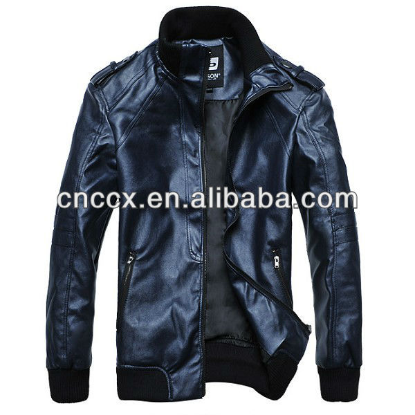 14PJ1014 Fashion casual pakistan leather jackets for men