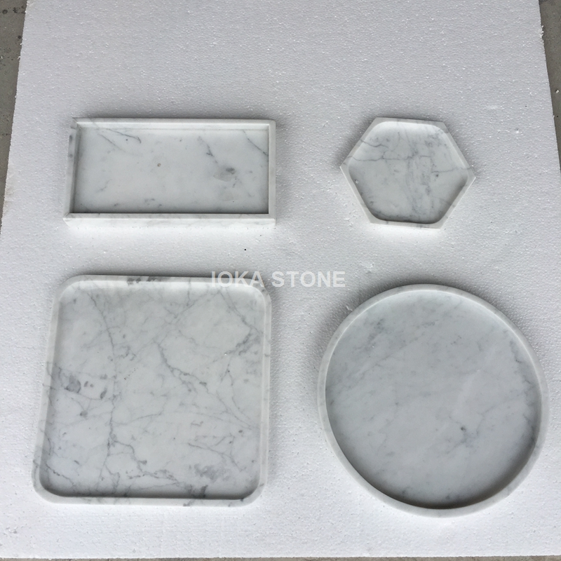 Christmas New year marble plate tableware