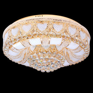 New Design Crystal Surface Mounted led Ceiling Light Fitting Remote Control